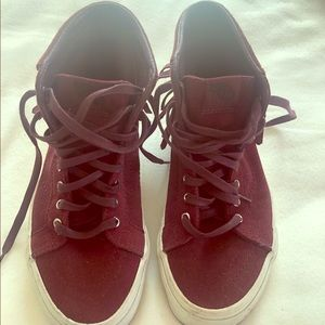 Madewell for VANS - burgundy vans